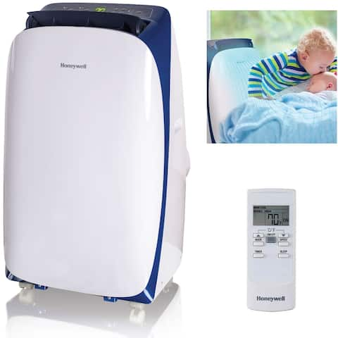 Honeywell White/ Blue HL12CESWB HL Series 12,000 BTU Portable Air Conditioner with Remote Control