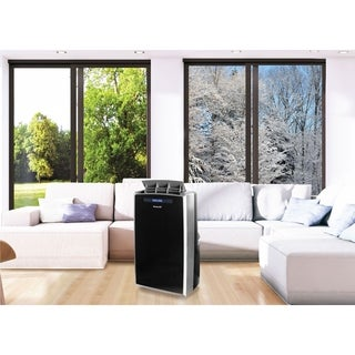 Honeywell Black/ Silver MM14CHCS 14,000 BTU Portable Air Conditioner with 12,000 BTU Heat Pump - Black/Silver