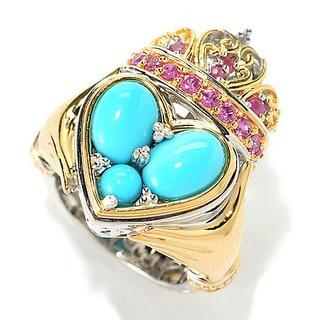 Michael Valitutti Sleeping Beauty Turquosie Heart Ring