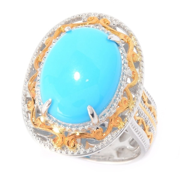 Michael Valitutti Palladium Silver Tucson Special Sleeping Beauty Turquoise Ring