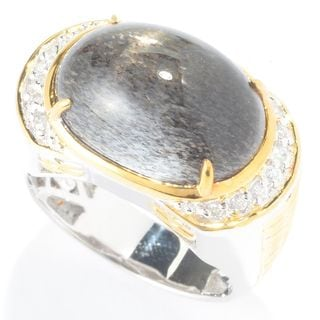 Michael Valitutti Men's Black Sunstone Ring