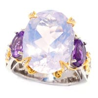 Michael Valitutti Hazy Amethyst and African Amethyst Ring