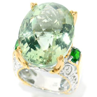 Michael Valitutti Green Amethyst Ring