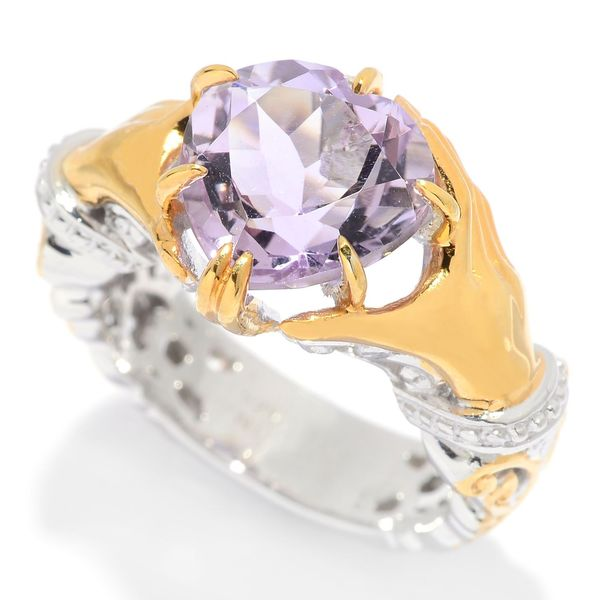 Michael Valitutti Pink Amethyst Holding Heart Ring