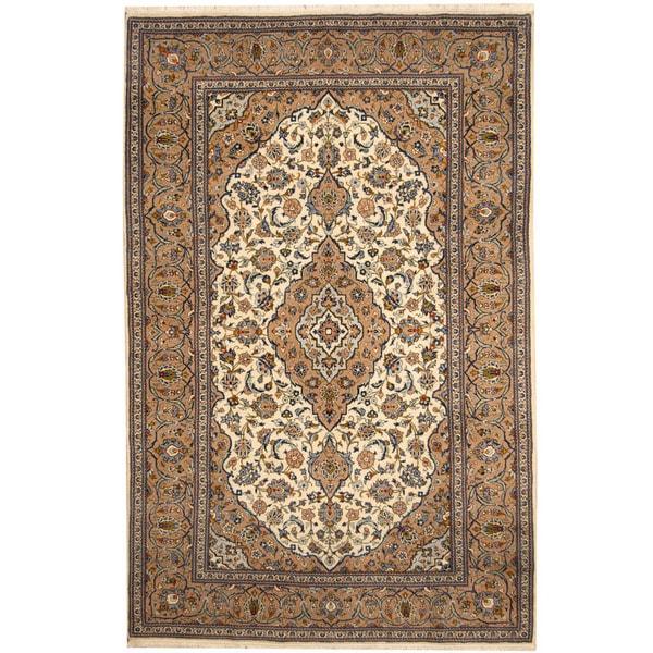 Handmade One-of-a-Kind Kashan Wool Rug (Iran) - 6'8 x 10'