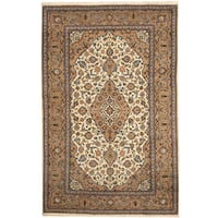 Herat Oriental Persian Hand-knotted Kashan Wool Area Rug - 6'8 x 10'