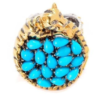 Michael Valitutti Sleeping Beauty Turquoise Tiger Ring