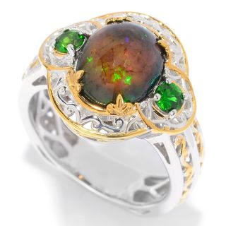 Michael Valitutti Smoked Black Opal Ring