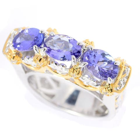 Michael Valitutti Tanzanite and White Zircon Ring