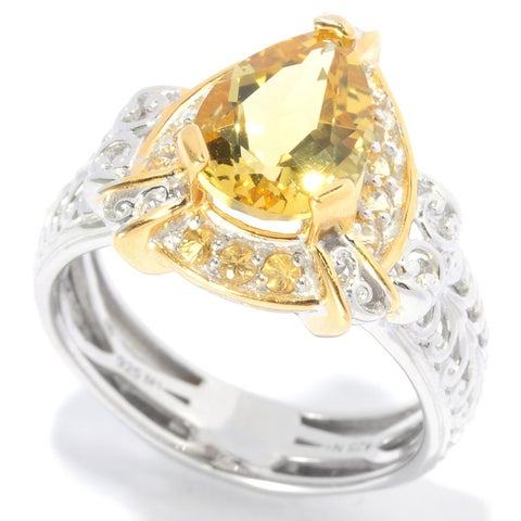 Michael Valitutti Pear Yellow Beryl Ring