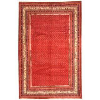 Herat Oriental Persian Hand-knotted Tribal Mir Wool Rug (6'9 x 10'5)
