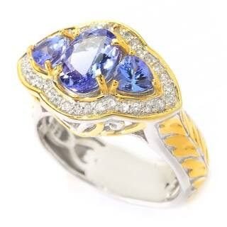 Michael Valitutti Tanzanite and White Zircon Ring