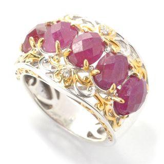 Michael Valitutti Rose Cut Ruby Ring