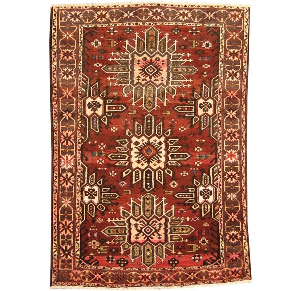 Handmade One-of-a-Kind Bakhtiari Wool Rug (Iran) - 6'8 x 10'