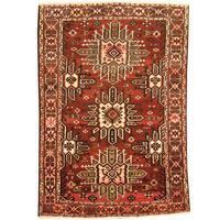 Herat Oriental Persian Hand-knotted Tribal Bakhtiari Wool Rug (6'8 x 10') - 6'8 x 10'
