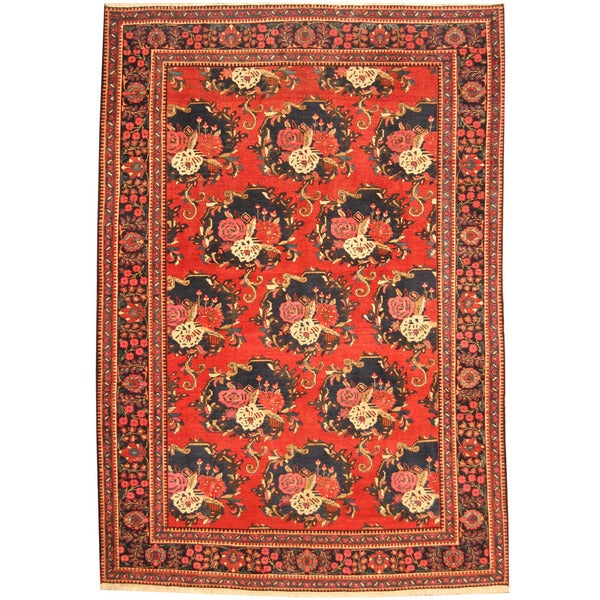 Handmade Herat Oriental Persian Tribal Bakhtiari Wool Rug (Iran) ...