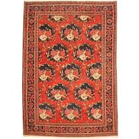 Herat Oriental Persian Hand-knotted Tribal Bakhtiari Wool Rug - 7'3 x 10'7