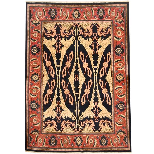 Handmade Herat Oriental Persian Tribal Mahal Wool Rug - 7'3 x 10'4 (Iran)