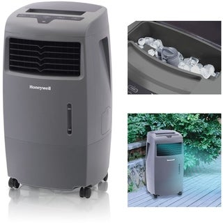 Honeywell Grey CO25AE 52 Pt. Indoor/Outdoor Evaporative Air Cooler with Remote Control
