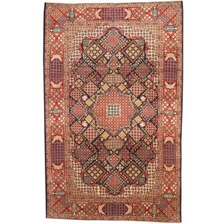 Herat Oriental Persian Hand-knotted 1960s Semi-antique Kashan Wool Rug (9'6 x 15')