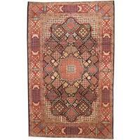 Handmade Herat Oriental Persian 1960s Semi-antique Kashan Wool Rug  - 9'6 x 15' (Iran)
