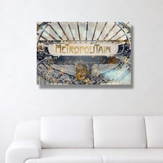 Metropolitain Gold' Canvas Art