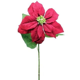 Red 28-inch Poinsettia Stem (Pack of 12)