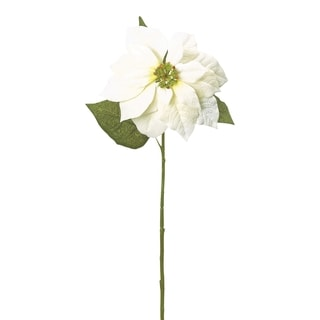 White 28-inch Poinsettia Stem (Pack of 12)