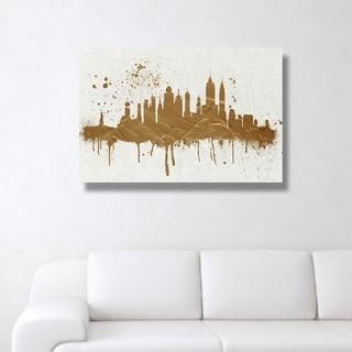 Oliver Gal 'Gold NY Skyline'  Canvas Art