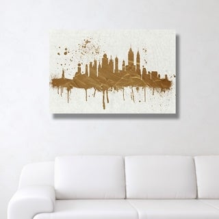 Oliver Gal 'Gold NY Skyline' Gallery Wrapped Canvas Art - New York City - Gold