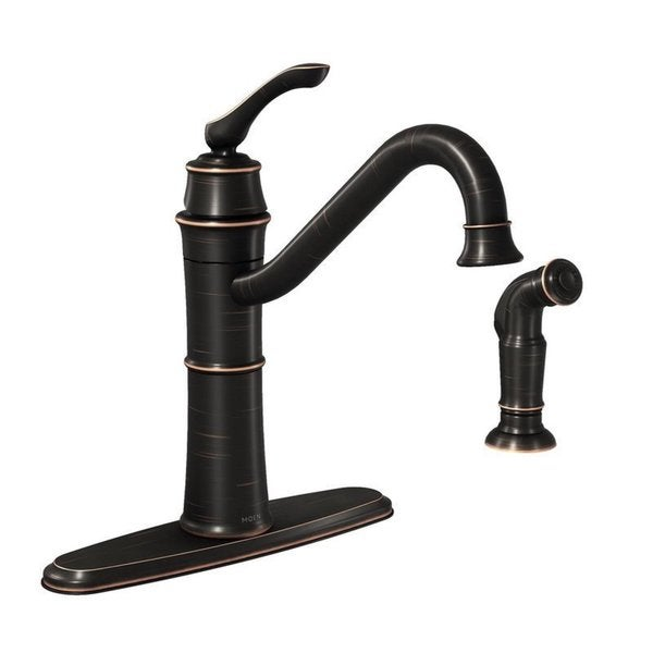 Shop Moen Wetherly Single Hole Kitchen Faucet 87999brb