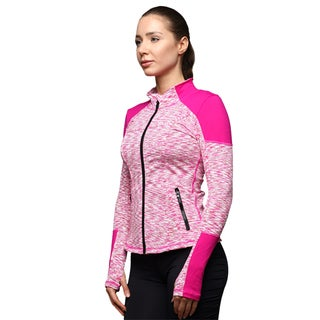 Women's Running Yoga Slim UV Protect Sweatshirts with Two Side Pocket Jacket Coat