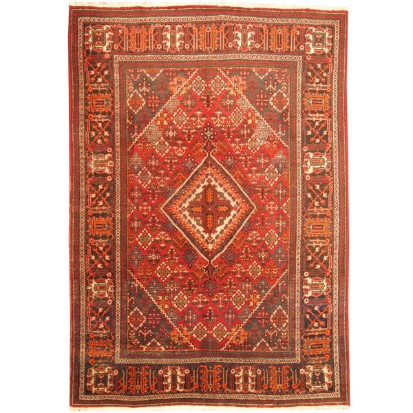 Handmade Herat Oriental Persian Tribal Josheghan Wool Rug - 7'2 x 10'5 (Iran)