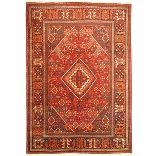 Herat Oriental Persian Hand-knotted Tribal Josheghan Wool Rug (7'2 x 10'5)