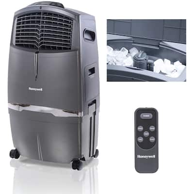 Honeywell Grey CL30XC 63 Pt. Indoor Evaporative Air Cooler with Remote Control