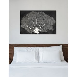 Oliver Gal 'Coral Fan Night'  Canvas Art