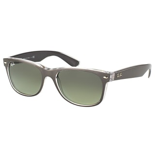 Ray-Ban New Wayfarer RB 2132 614371 Brushed Gunmetal on Crystal Wayfarer Plastic Sunglasses