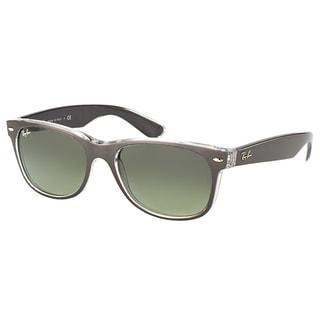 Ray-Ban New Wayfarer RB 2132 614371 Brushed Gunmetal on Crystal Wayfarer Plastic 55mm Sunglasses