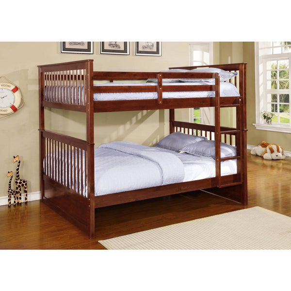 paloma wood full over full bunk bed