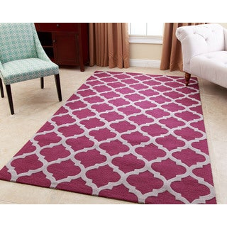 ABBYSON LIVING Hand-tufted Vera Plum New Zealand Wool Rug (3' x 5')