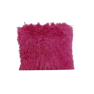 Hottsie Dottsie Hot Pink Fur Decor Pillow