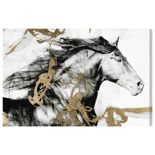 Gold and Black Beauty' Canvas Art