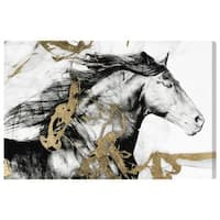 Oliver Gal 'Gold and Black Beauty'  Canvas Art