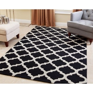 Abbyson Hand-tufted Vera Black New Zealand Wool Rug (5' x 8')