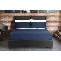 DHP Bridgeport Black Faux Leather Full Bed