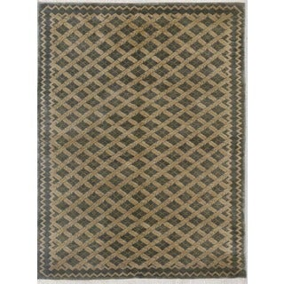 Hand Knotted Flat Weave Rug (4' x 6')