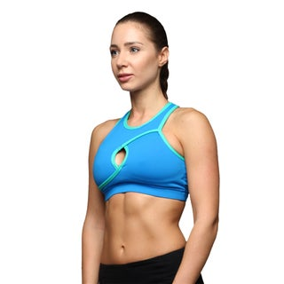 Athletic Bra Wite Keyhole In The Front And A Cutout Back