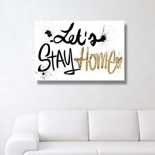 Oliver Gal 'Let's Stay Home'  Canvas Art