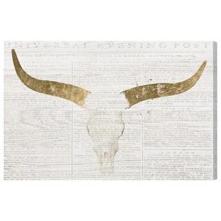 Oliver Gal 'Evening Desert Skull'  Canvas Art
