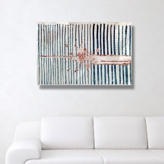 Oliver Gal 'Love Force Field Copper' Abstract Wall Art Canvas Print - Blue, Bronze